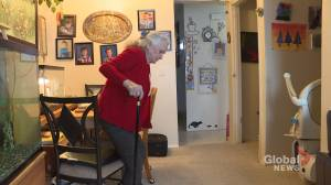 83-year-old Calgary senior has walker stolen from backyard