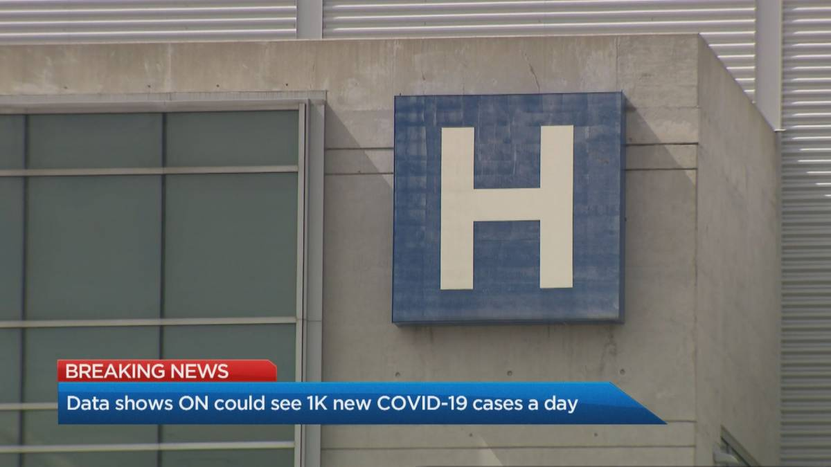 Click to play video 'Data shows Ontario could see 1,000 COVID-19 cases a day in October'