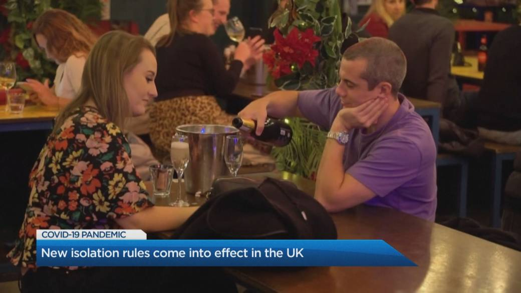 Click to play video 'New isolation rules come into effect in the U.K.'