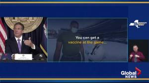 Free tickets for New York Yankees, Mets fans who get COVID-19 vaccine at the stadium: Gov. Cuomo (01:16)