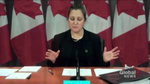Freeland says consultations launched to help rebuild Canada's economy post-COVID-19 (01:39)