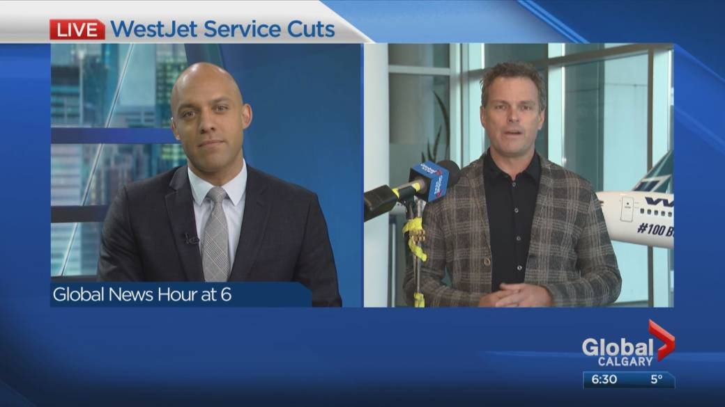 Click to play video 'WestJet executive calls for federal support after company slashed flights and jobs'