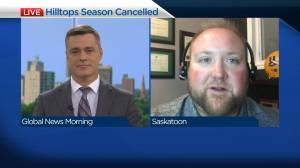 Saskatoon Hilltops president on season cancellation