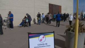 Booking for COVID-19 vaccinations now available for Ontarians 75 and older (01:50)