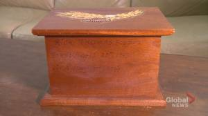 Family reunited with father's cremated remains after ashes mysteriously ended up at Calgary thrift store