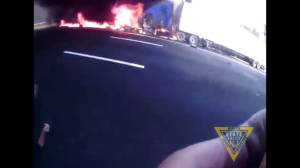 New Jersey State Trooper pulls man from truck right before it explodes