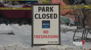Edmonton's Camp Pekiwewin homeless encampment officially closed (01:43)