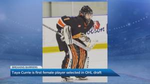 OHL's first female draft pick talks breaking barriers on the ice (04:12)