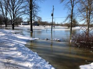 Flood warning for Otonabee River