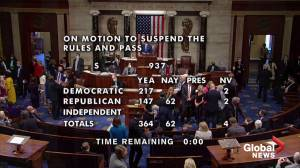 U.S. House passes bill to fight anti-Asian hate crimes (00:36)