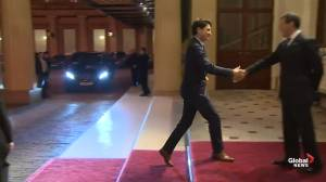 Trudeau, other world leaders arrive for NATO reception at Buckingham Palace