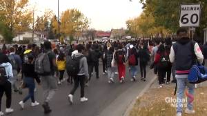 Calgary students walk out of class to protest systemic racism in education system