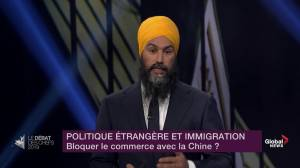 Leaders' Debate: Singh and Scheer attack Trudeau's handling of Canadians being held in China