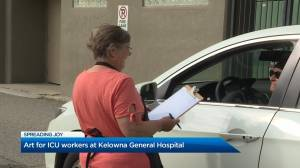 Okanagan artists create artwork for ICU workers at Kelowna General Hospital (02:06)