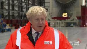 U.K. PM Boris Johnson says Brexit deal hopeful, but unlikely (01:13)