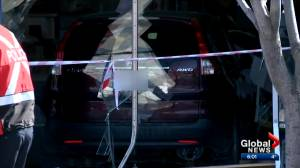 Several staff injured after vehicle crashes through Calgary medical clinic (02:11)