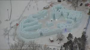 Ice Castles open in Edmonton's Hawrelak Park