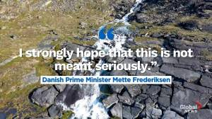 Danish PM calls Trump's proposal 'absurd'