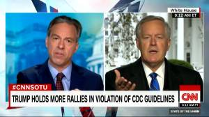 Coronavirus: 'We're not going to control the pandemic,' Trump's chief of staff says (05:30)