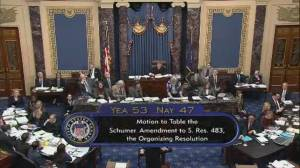 First proposed amendment to Senate rules for impeachment trial defeated