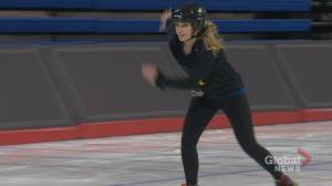 Pro athletes and reporters hit the world's fastest ice at Olympic Oval