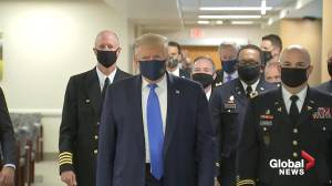 Coronavirus: Trump wears face mask in public for the first time since pandemic began