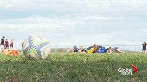 Pronghorns' senior bringing experience from overseas to Canada West rugby season (01:44)
