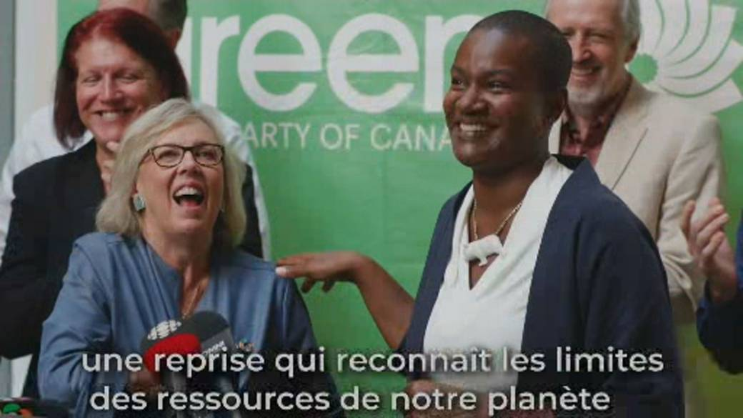 Click to play video 'Green Party elects Annamie Paul as leader'