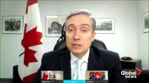 New innovation minister Champagne discusses where Canada stands with 5G network implementation (01:45)