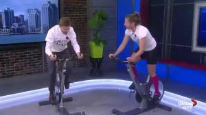 Local fitness fans spinning for a good cause