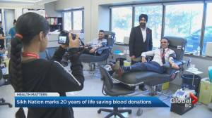 Sikh Nation marking two decades of blood donations