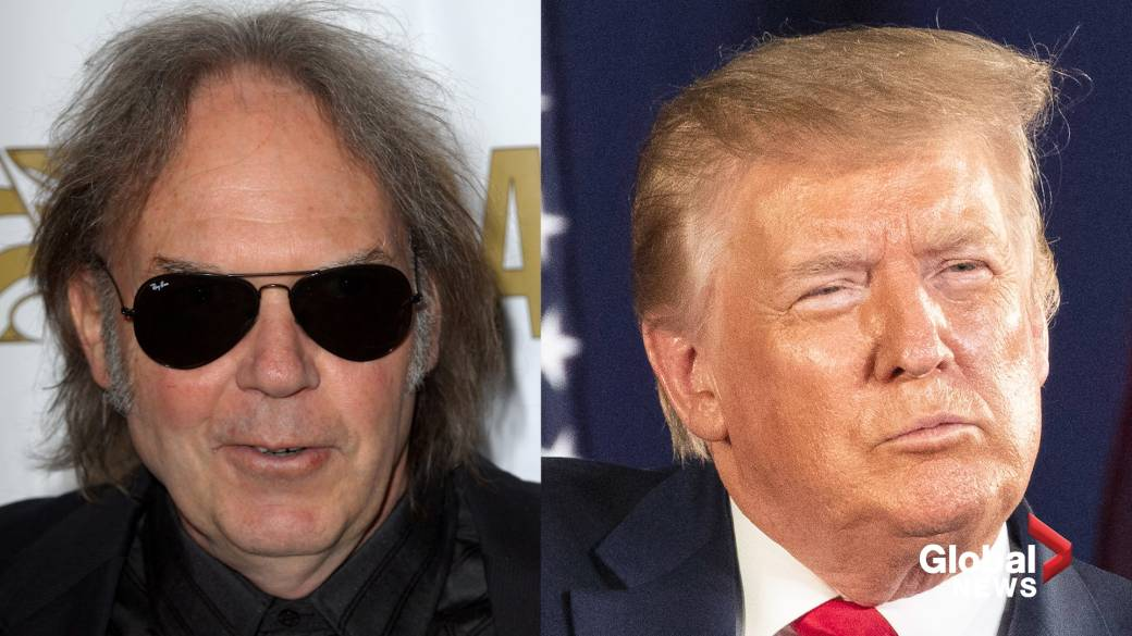 Click to play video 'Neil Young writes Trump open letter after U.S. president continues to use his music'