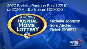 Foothills Hospital Home Lottery: 2020 Barletta L23UC pontoon boat or 2020 Audi e-tron