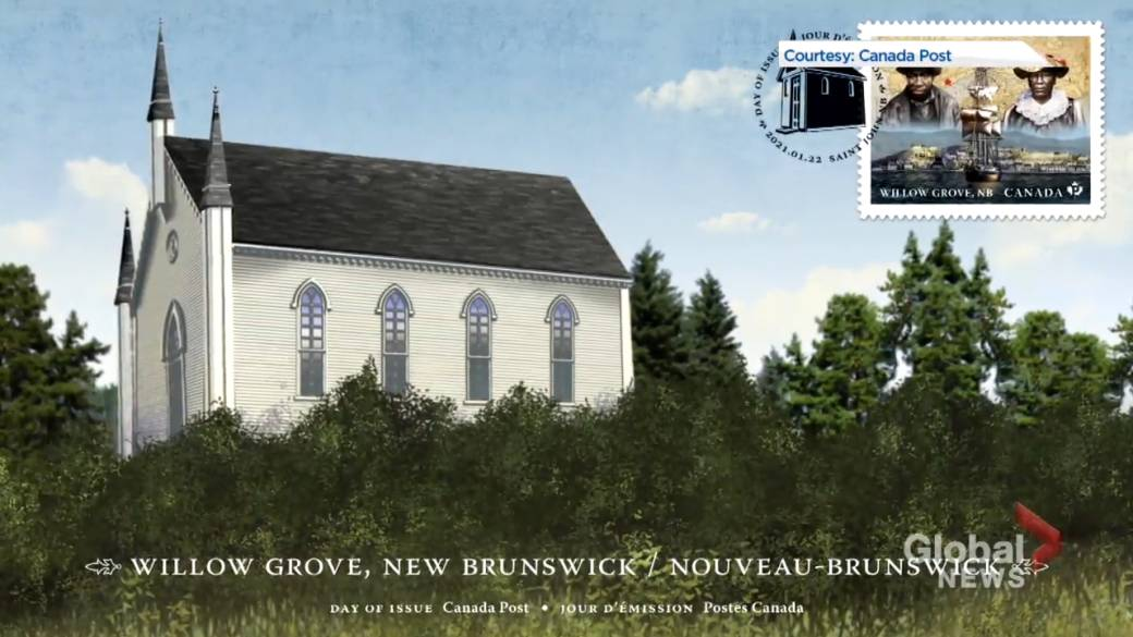 Click to play video 'New Canada Post stamp honours Black settlers to Willow Grove, N.B.'