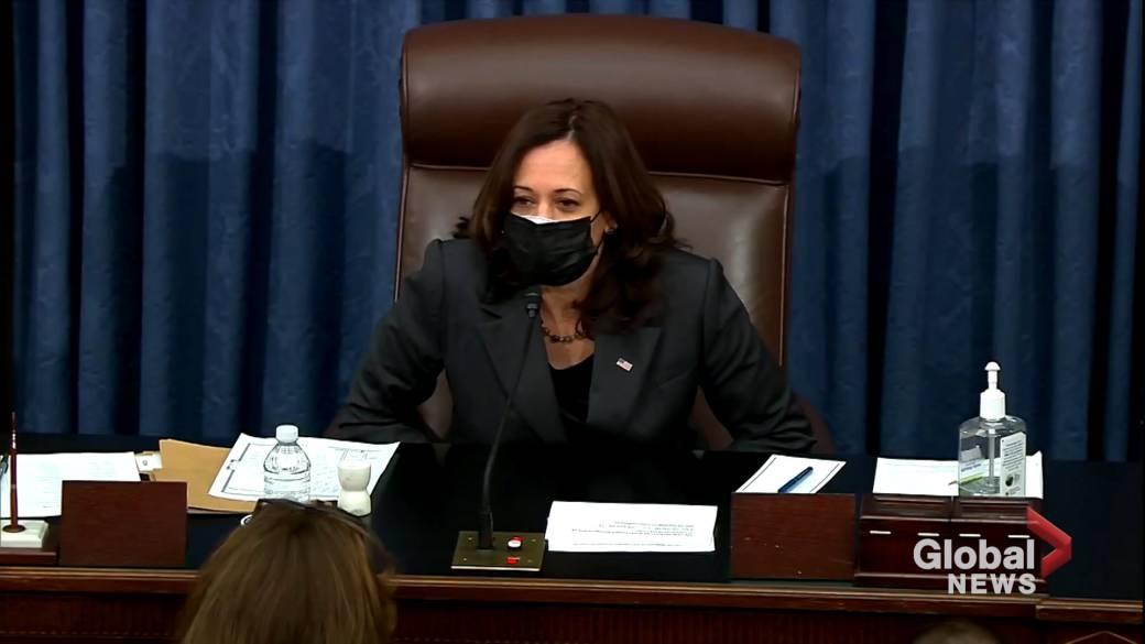 Click to play video 'U.S. Senate passes bill to fast-track Biden's stimulus bill'
