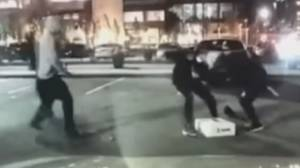 Attempted robbery of game console caught on camera (00:49)