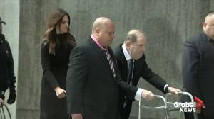 Harvey Weinstein arrives at court for hearing on whether to boost bail