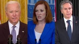 Biden, senior U.S. officials condemn strike on building housing media offices in Gaza, reiterate their support for Israel (02:49)