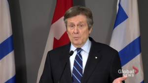 Coronavirus: Toronto Mayor Tory says city 'will be ready' for mass-vaccination rollout (01:10)