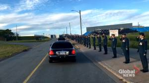 Hundreds line streets of CFB Shearwater in tribute to fallen service members