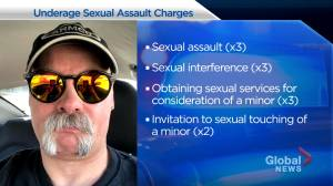 Calgary man facing multiple underage sexual assault charges (01:29)