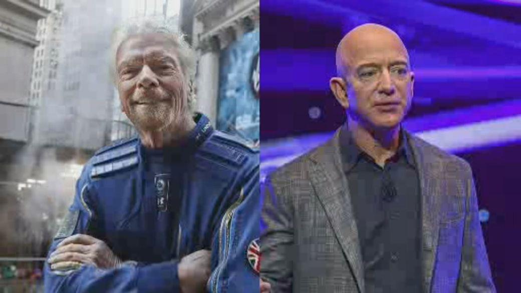 Click to play video: 'Race to space between billionaires: Zero gravity, one-upmanship, two egos'