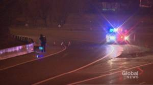 Police launch investigation after body found on highway ramp in Kitchener
