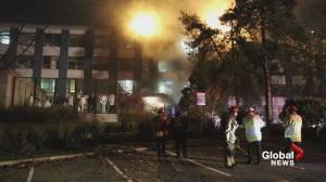 Late-night blaze forces patients from Burnaby General Hospital (00:43)