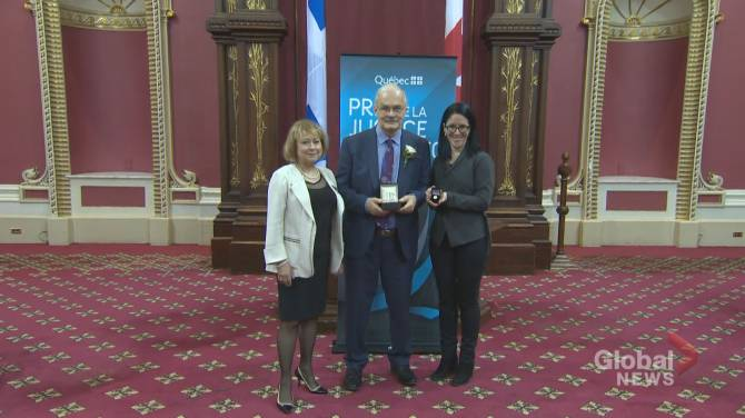 Montreal medical malpractice lawyer receives justice award in Quebec City