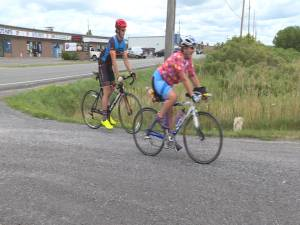 Leeds & Grenville OSPCA manager cycles from Brockville to Napanee for Sweat for Pets fundraiser (02:00)