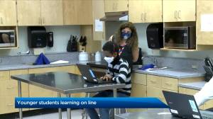 Elementary students at Escuela St. Margaret School move to online learning (02:49)