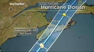 Hurricane Dorian churning towards Atlantic Canada