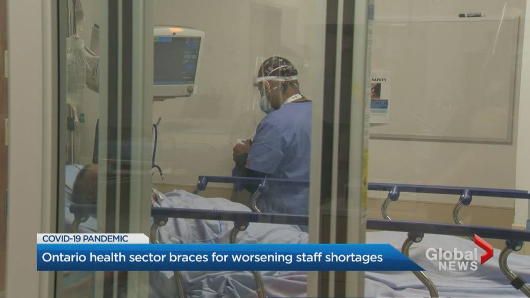 Click to play video: 'COVID-19: Health care staffing shortage looming in Ontario'