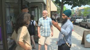 NDP leader talks COVID with Penticton business owners (02:25)